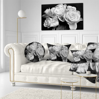 Bunch of Roses Floral Throw Pillow Size: 16 x 16