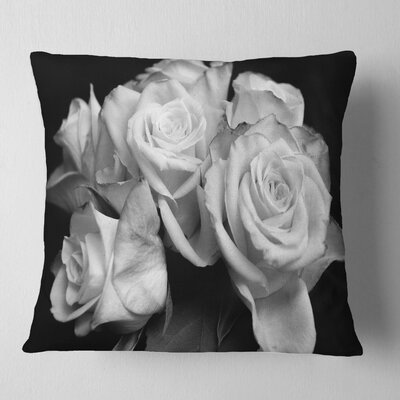 Bunch of Roses Floral Pillow Size: 26 x 26, Product Type: Euro Pillow