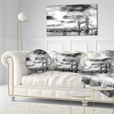 View of London Panorama Cityscape Throw Pillow Size: 20 x 20