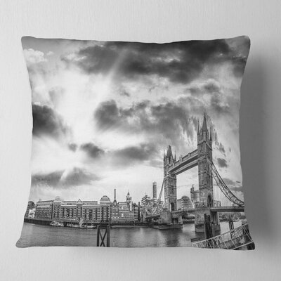 View of London Panorama Cityscape Pillow Size: 18 x 18, Product Type: Throw Pillow