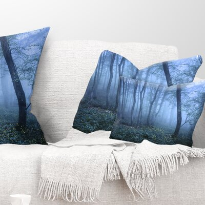 Trail Through Fall Forest Landscape Photo Pillow Size: 12 x 20, Product Type: Lumbar Pillow