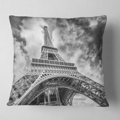 View of Paris Eiffel Tower Cityscape Pillow Size: 26 x 26, Product Type: Euro Pillow