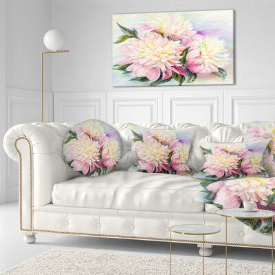 Blooming Peonies Floral Throw Pillow Size: 16 x 16