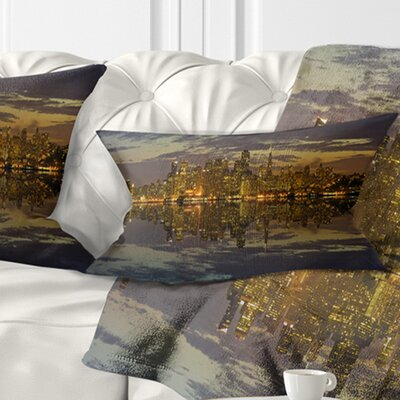 San Francisco at Sunset Panorama Cityscape Pillow Size: 12 x 20, Product Type: Lumbar Pillow