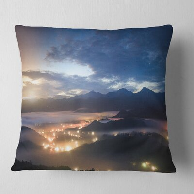 Cloudy Summer Sunrise Landscape Photo Pillow Size: 26 x 26, Product Type: Euro Pillow
