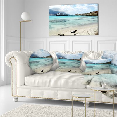 Crete Island in Greece Seascape Throw Pillow Size: 20 x 20