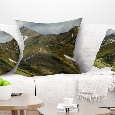 Trekking Patch in Tatra Mountains Landscape Printed Pillow Size: 18 x 18, Product Type: Throw Pillow