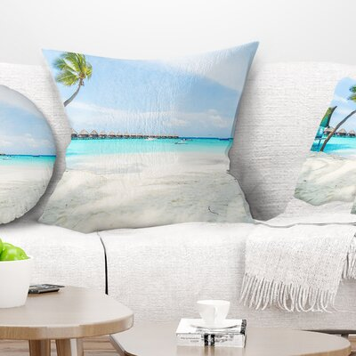 Tropical Maldives Island Seascape Pillow Size: 16 x 16, Product Type: Throw Pillow