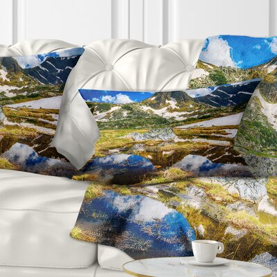 Stunning Mountains in Rila Lakes District Landscape Printed Pillow Size: 12 x 20, Product Type: Lumbar Pillow