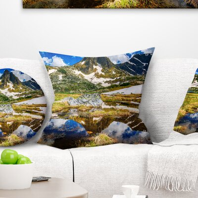 Stunning Mountains in Rila Lakes District Landscape Printed Pillow Size: 16 x 16, Product Type: Throw Pillow