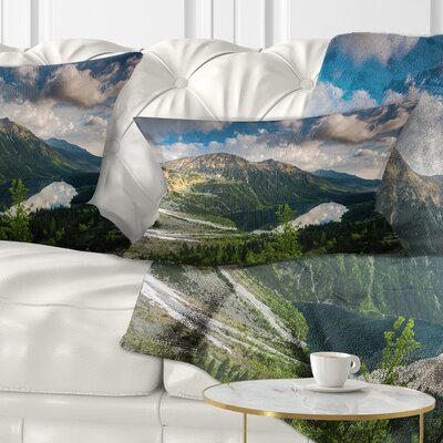 Summer at Polish Tatra Mountains Landscape Printed Pillow Size: 12 x 20, Product Type: Lumbar Pillow