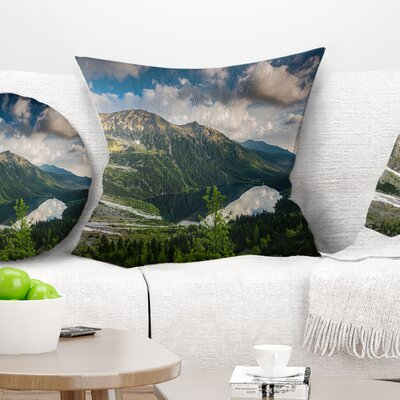 Summer at Polish Tatra Mountains Landscape Printed Pillow Size: 18 x 18, Product Type: Throw Pillow