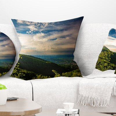 Vitosha Mountain over Sofia Bulgaria Landscape Printed Pillow Size: 16 x 16, Product Type: Throw Pillow