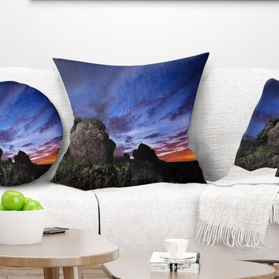 Summer Night Sky Landscape Photography Pillow Size: 16 x 16, Product Type: Throw Pillow