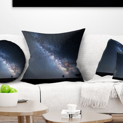 Summer Night with Stars in Crimea Landscape Photography Pillow Size: 26 x 26, Product Type: Euro Pillow