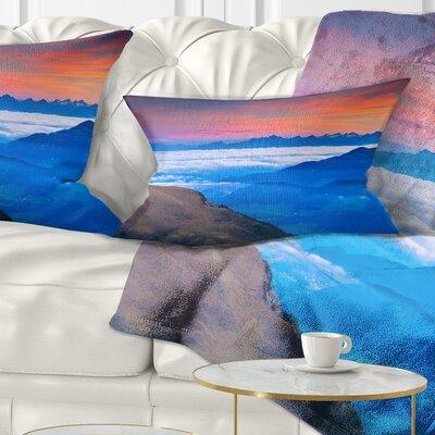 Summer Sunrise in Italian Alps Landscape Photo Pillow Size: 12 x 20, Product Type: Lumbar Pillow
