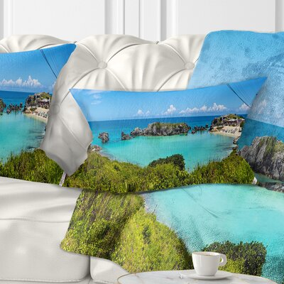 Tobacco Bay Panorama Landscape Printed Pillow Size: 12 x 20, Product Type: Lumbar Pillow
