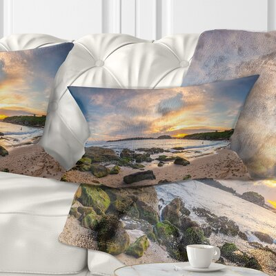 Sydney Seashore during Sunset Seascape Pillow Size: 12 x 20, Product Type: Lumbar Pillow