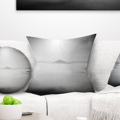 Sandstone Hills and Peaks in Fog Landscape Photography Pillow Size: 18 x 18, Product Type: Throw Pillow