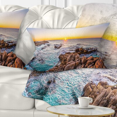 Sunrise at Freycinet Beach Landscape Printed Pillow Size: 12 x 20, Product Type: Lumbar Pillow