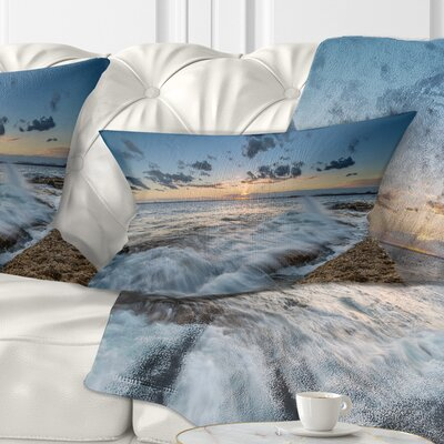 Sydney Sunset at La Per House Seascape Pillow Size: 12 x 20, Product Type: Lumbar Pillow