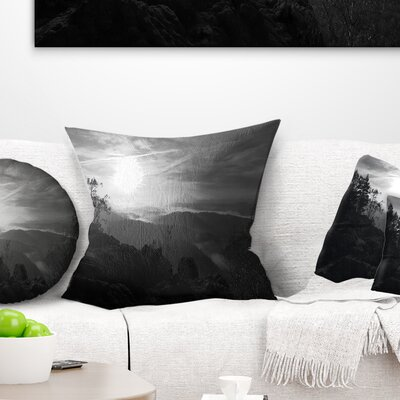 Sandstone Peaks and Hills Landscape Photo Pillow Size: 18 x 18, Product Type: Throw Pillow