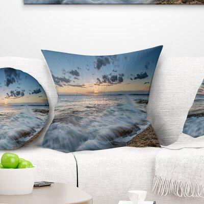 Sydney Sunset at La Per House Seascape Pillow Size: 26 x 26, Product Type: Euro Pillow