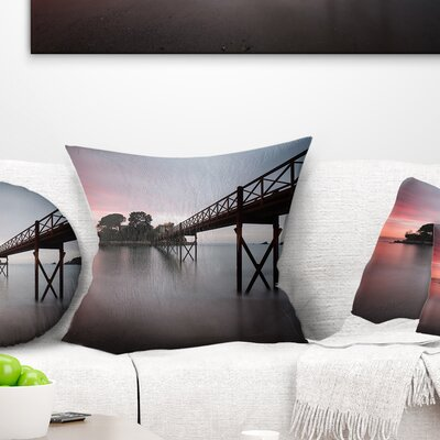 Santa Cruz Island Spain Seashore Photo Pillow Size: 16 x 16, Product Type: Throw Pillow