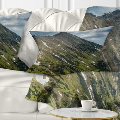 Tatra Mountains Panoramic View Landscape Printed Pillow Size: 12 x 20, Product Type: Lumbar Pillow