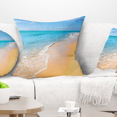 Tropical Sea and Sky Seashore Photo Pillow Size: 18 x 18, Product Type: Throw Pillow