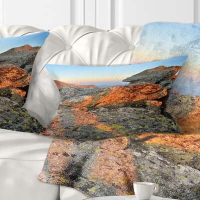 Tatra Mountains Peak Landscape Photography Pillow Size: 12 x 20, Product Type: Lumbar Pillow
