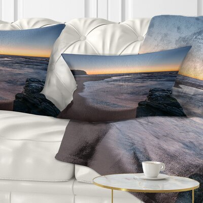 Sunrise at Sydney over Sea Seascape Pillow Size: 12 x 20, Product Type: Lumbar Pillow