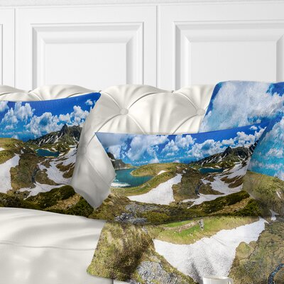 Seven Rila Lakes in Bulgaria Landscape Printed Pillow Size: 12 x 20, Product Type: Lumbar Pillow