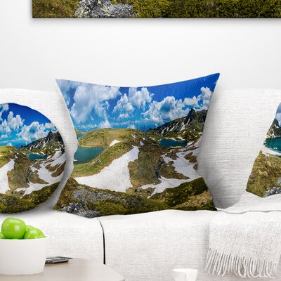 Seven Rila Lakes in Bulgaria Landscape Printed Pillow Size: 26 x 26, Product Type: Euro Pillow