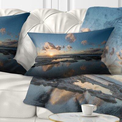 Sunset at La Perhouse Beach Seascape Pillow Size: 12 x 20, Product Type: Lumbar Pillow