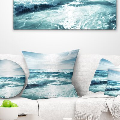 Seychelles Beach at Sunset Seascape Pillow Size: 16 x 16, Product Type: Throw Pillow