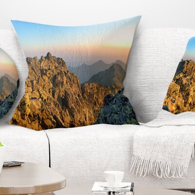 View from Baranie Rohy Peak Landscape Photo Pillow Size: 18 x 18, Product Type: Throw Pillow