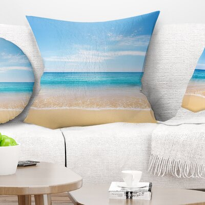 Wide Sky over Beach Seashore Photo Pillow Size: 26 x 26, Product Type: Euro Pillow