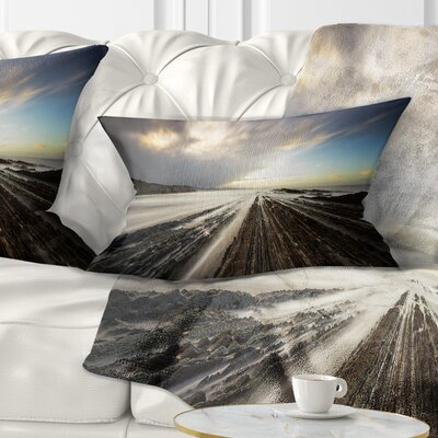Surreal Atlantic Ocean Coast Seashore Photo Pillow Size: 12 x 20, Product Type: Lumbar Pillow