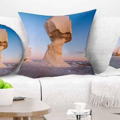 Wind Eroded Rock Formation Landscape Photo Pillow Size: 18 x 18, Product Type: Throw Pillow