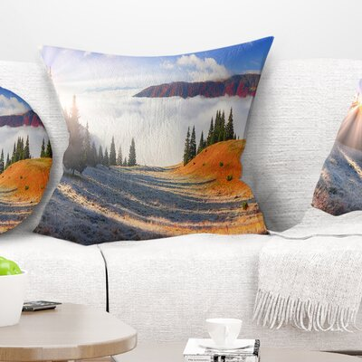Beach Forest in Carpathians Landscape Photography Pillow Size: 26 x 26, Product Type: Euro Pillow