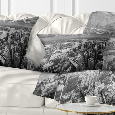 Sydney City Skyscrapers Panorama Cityscape Pillow Size: 12 x 20, Product Type: Lumbar Pillow