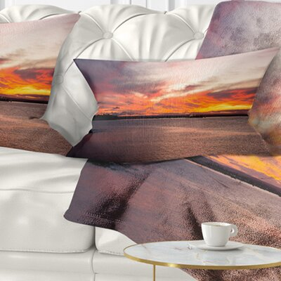 Sky over Calm Sydney Coast Seashore Pillow Size: 12 x 20, Product Type: Lumbar Pillow