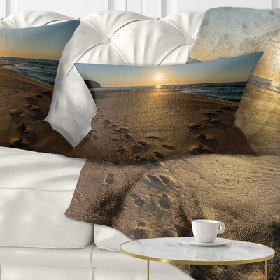 Sydney Seashore at Sunrise Seascape Pillow Size: 12 x 20, Product Type: Lumbar Pillow
