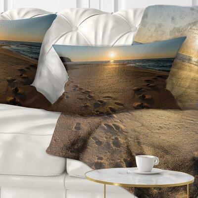 Sydney Seashore at Sunrise Seascape Pillow Size: 12 x 20, Product Type: Lumbar Pillow