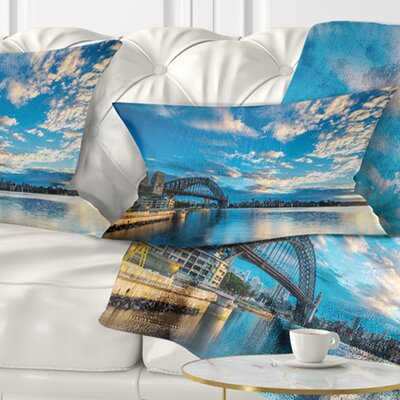 Sunrise from Sydney Harbor Bridge Seashore Pillow Size: 12 x 20, Product Type: Lumbar Pillow