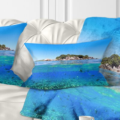 Under and Above the Water Seascape Pillow Size: 12 x 20, Product Type: Lumbar Pillow