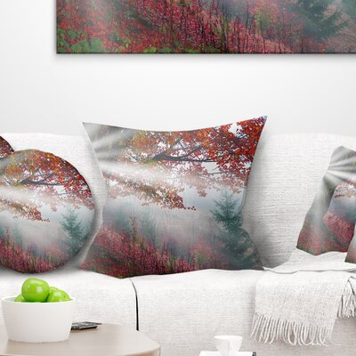 Rays of Sun After Storm Landscape Photography Pillow Size: 18 x 18, Product Type: Throw Pillow