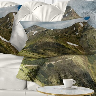 Trekking Patch in Tatra Mountains Landscape Printed Pillow Size: 12 x 20, Product Type: Lumbar Pillow
