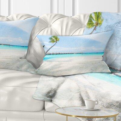 Tropical Maldives Island Seascape Pillow Size: 12 x 20, Product Type: Lumbar Pillow